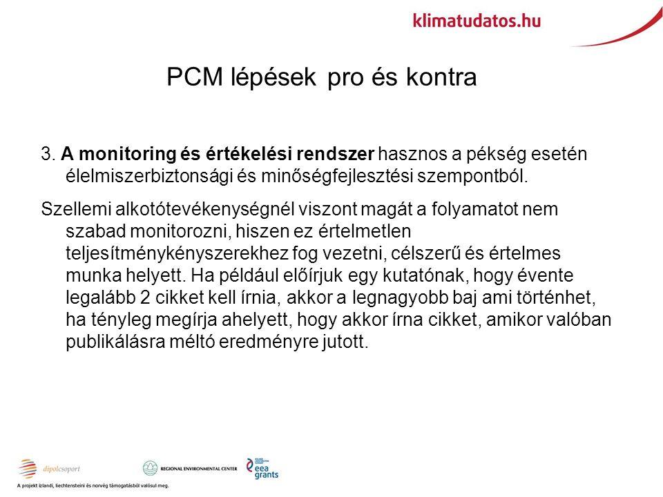 PCM lépések pro és kontra 3.