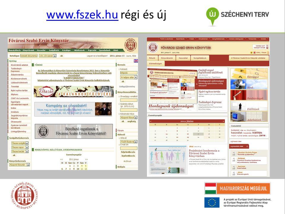 www.fszek.huwww.fszek.hu régi és új