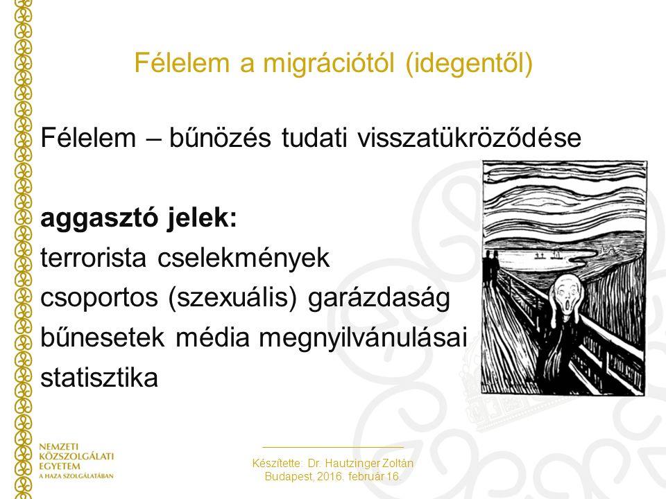 Készítette: Dr. Hautzinger Zoltán Budapest, 2016. február 16. Köszönöm megtisztelő figyelmüket!