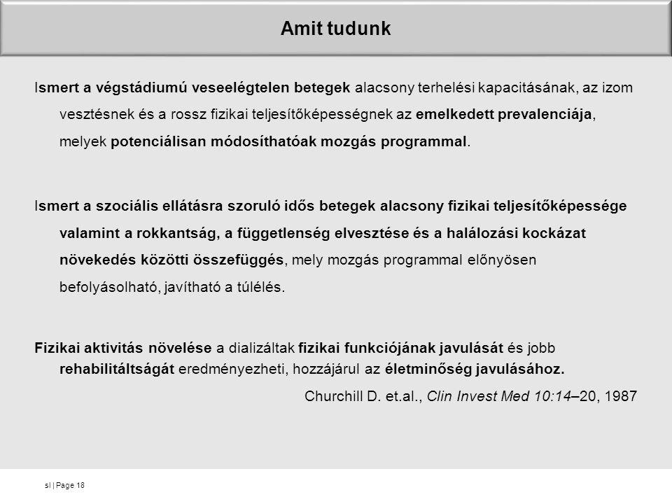 sl | Page Amit tudunk Ismert a végstádiumú veseelégtelen betegek alacsony terhelési kapacitásának, az izom vesztésnek és a rossz fizikai teljesítőképe