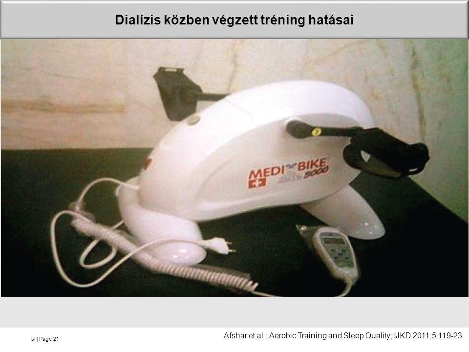 sl | Page Dialízis közben végzett tréning hatásai 21 Afshar et al : Aerobic Training and Sleep Quality; IJKD 2011;5:119-23