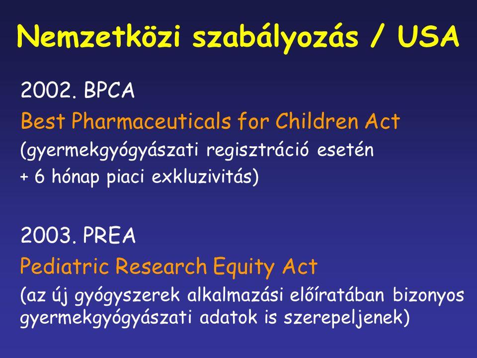 Nemzetközi szabályozás / USA 2002.