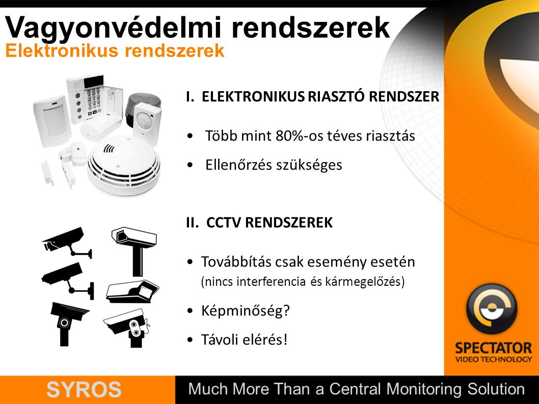 Much More Than a Central Monitoring Solution SYROS I.