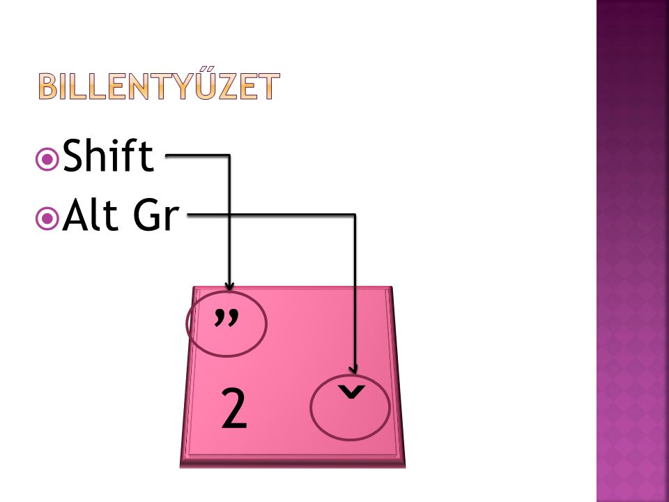  Shift  Alt Gr 2 ˇ