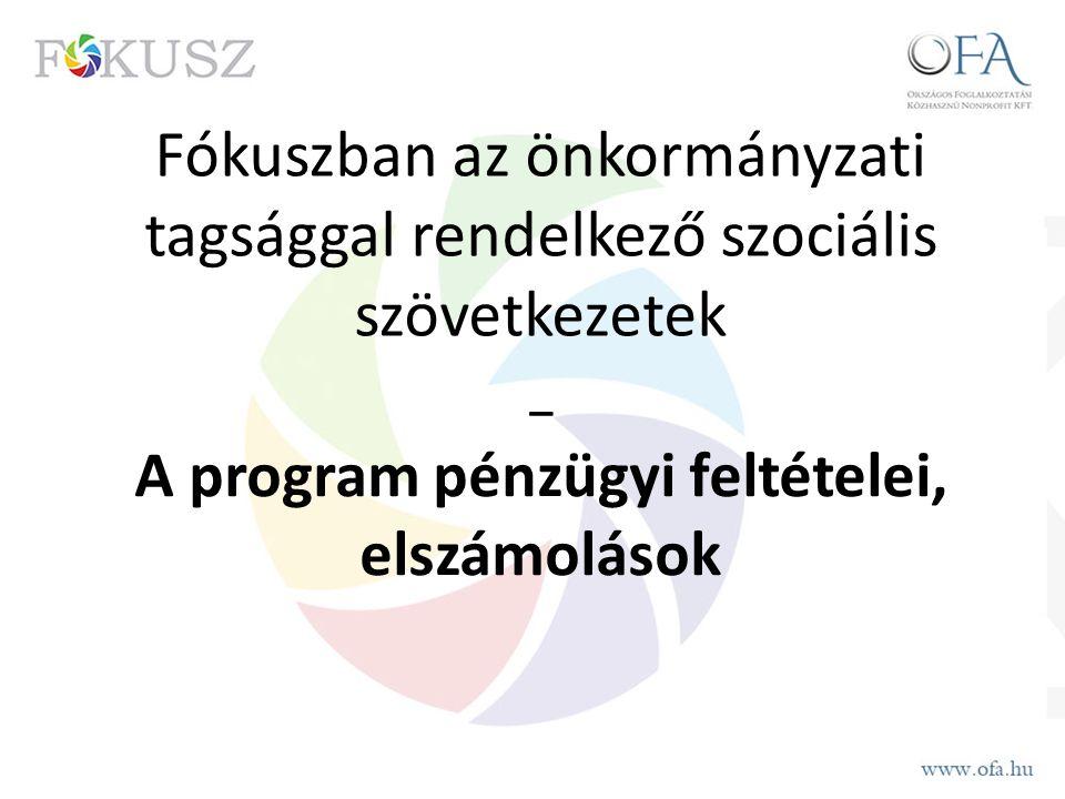 Fókuszban az önkormányzati tagsággal rendelkező szociális szövetkezetek _ A program pénzügyi feltételei, elszámolások