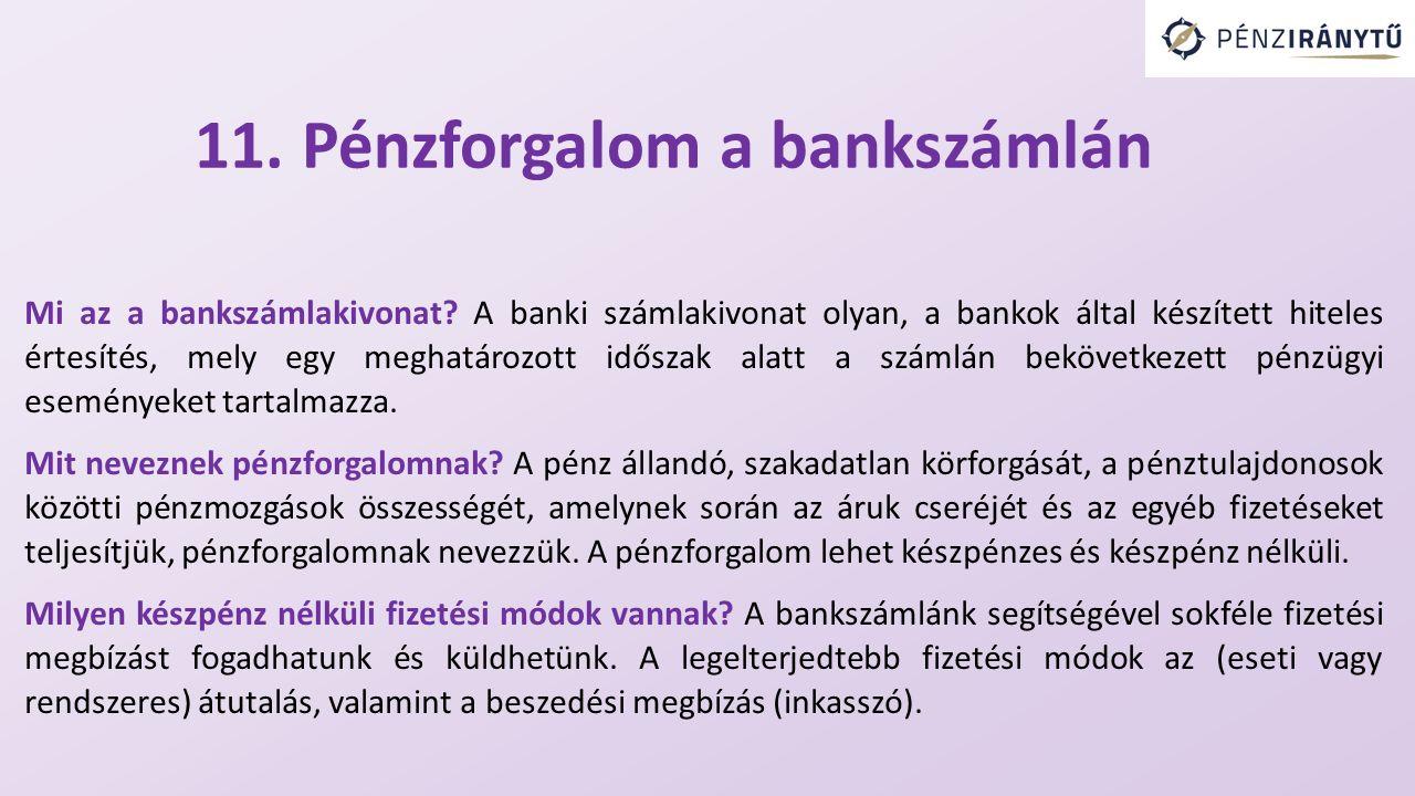 Mi az a bankszámlakivonat.