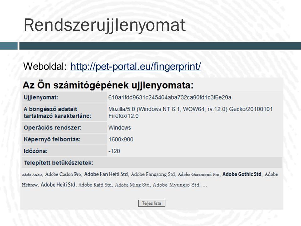 Rendszerujjlenyomat Weboldal: http://pet-portal.eu/fingerprint/http://pet-portal.eu/fingerprint/