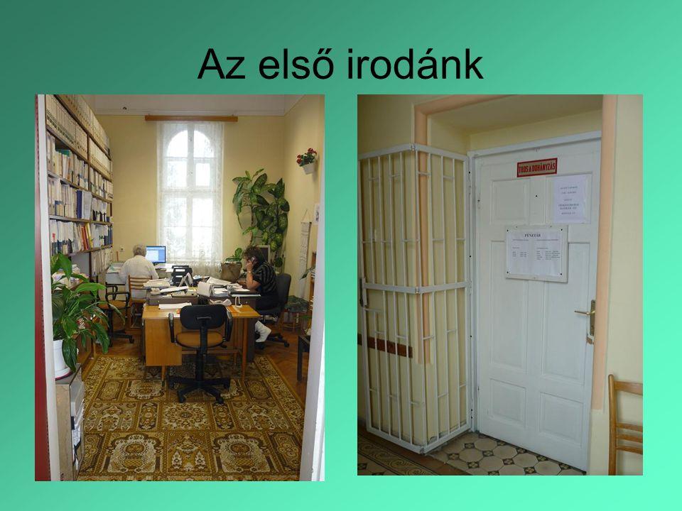 Az első irodánk
