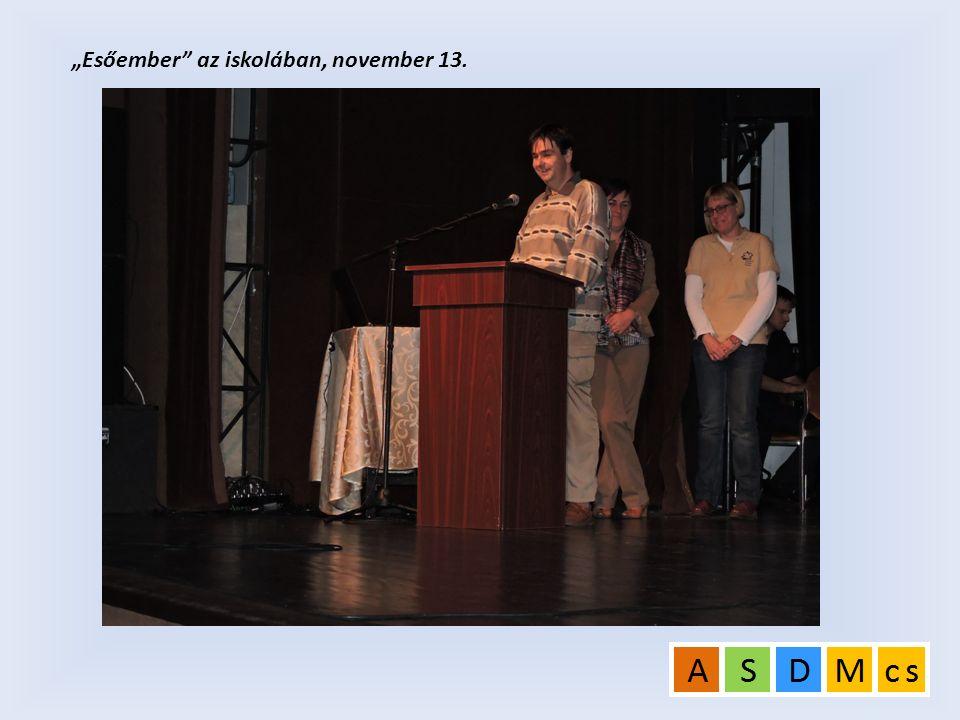 """""""Esőember"""" az iskolában, november 13."""