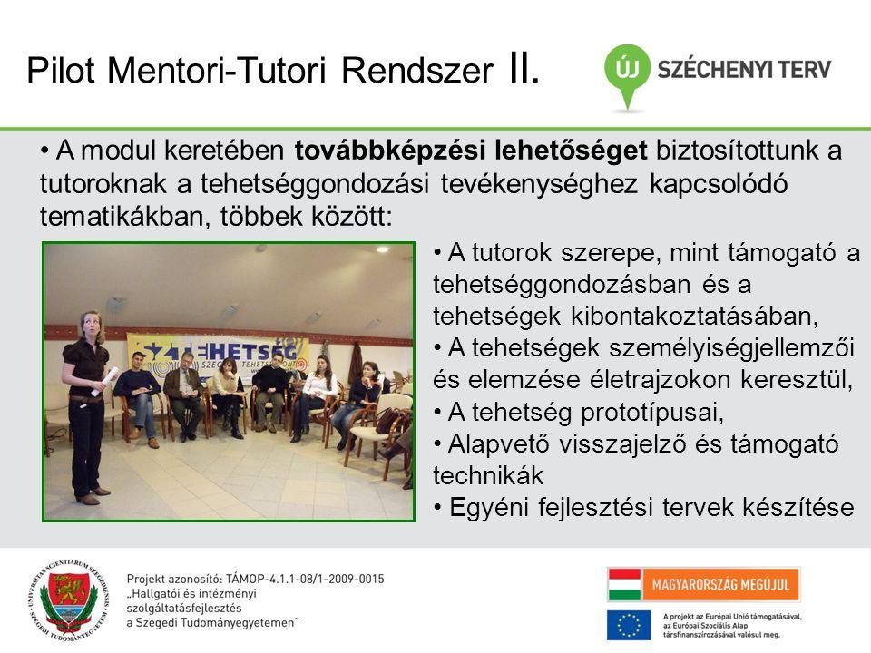 Pilot Mentori-Tutori Rendszer II.