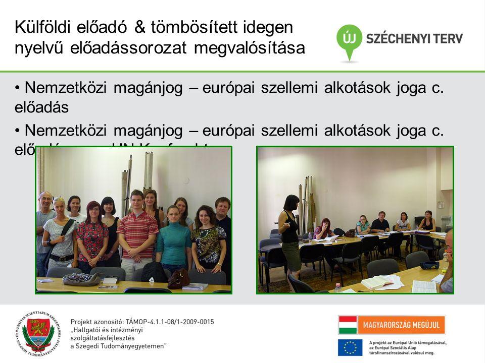 Nemzetközi magánjog – európai szellemi alkotások joga c. előadás Nemzetközi magánjog – európai szellemi alkotások joga c. előadás – UN Kaufrecht Külfö