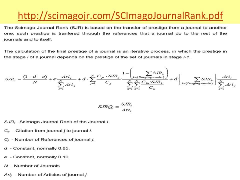 http://scimagojr.com/SCImagoJournalRank.pdf