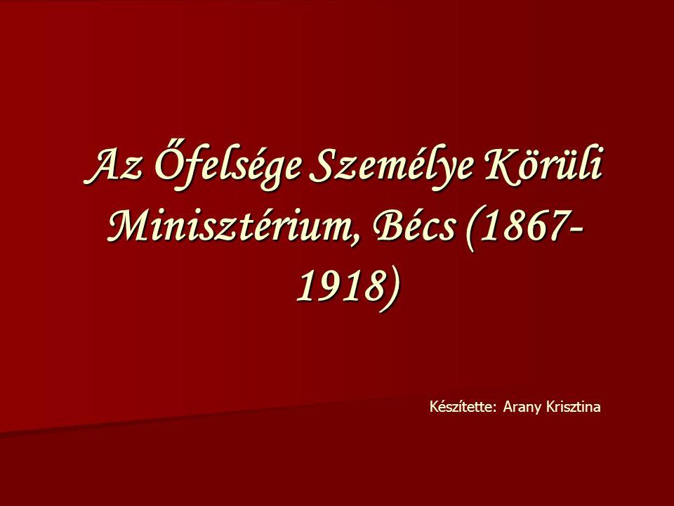 Előterjesztés – Legfelsőbb elhatározás A bécsi székhelyű minisztérium által elkészített német és magyar nyelvű előterjesztés megküldése az uralkodónak (mellékelve a szaktárcák állásfoglalását, amennyiben szükséges volt) A bécsi székhelyű minisztérium által elkészített német és magyar nyelvű előterjesztés megküldése az uralkodónak (mellékelve a szaktárcák állásfoglalását, amennyiben szükséges volt) Az uralkodó által meghozott legfelsőbb elhatározás hátiratilag az előerjesztés utolsó oldalán olvasható.