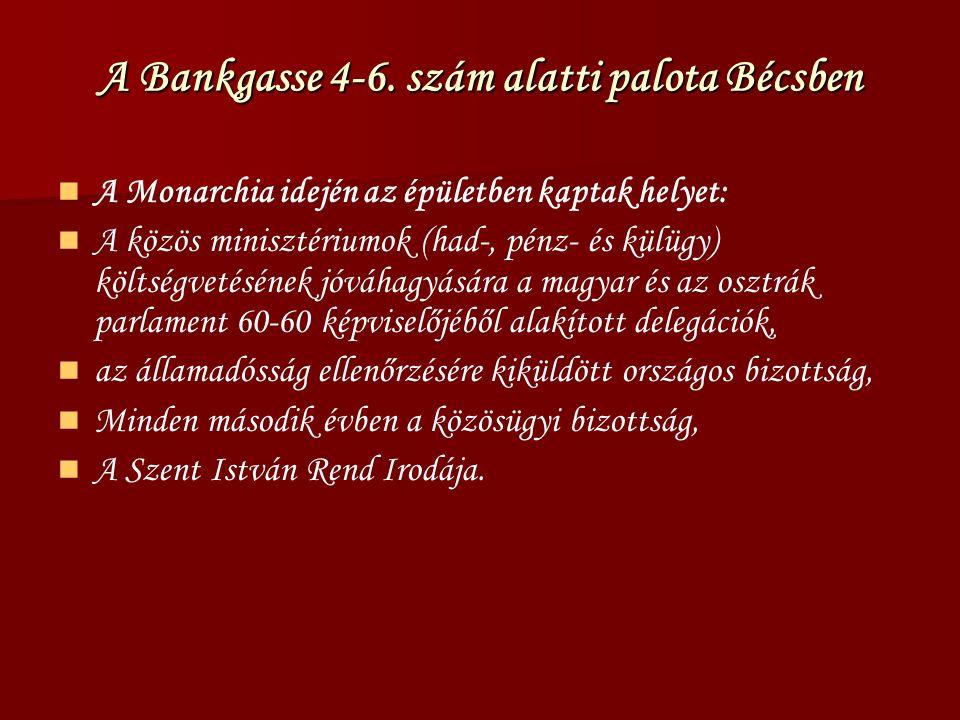 A Minisztérium hatásköre Az egyes szakminiszterek felterjesztéseinek a közvetítése a királyhoz, valamint a válasz közvetítése, különös tekintettel a horvát-szlavón miniszter előterjesztéseire.