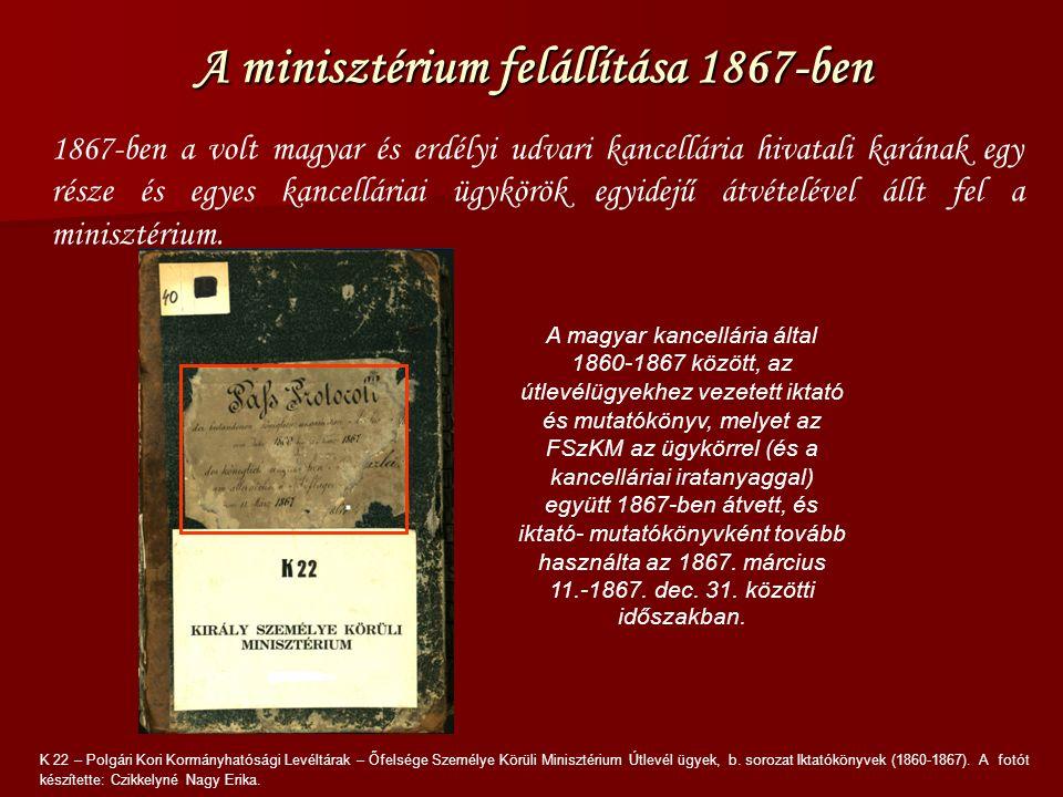 """A segédkönyv borítóján kivehető a több rétegben lekapart címke: """"Pass Protokoll der bestandenen Königlich Ungarischen Hofkanzlei vom Jahre 1860 bis 9."""