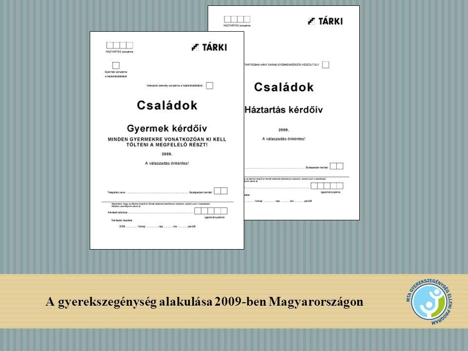 A gyerekszegénység alakulása 2009-ben Magyarországon