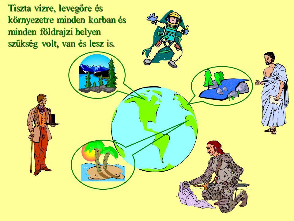 Tiszta vízre, levegőre és környezetre minden korban és minden földrajzi helyen szükség volt, van és lesz is.