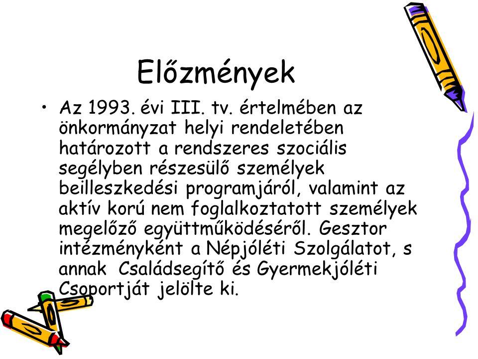 Előzmények Az 1993. évi III. tv.