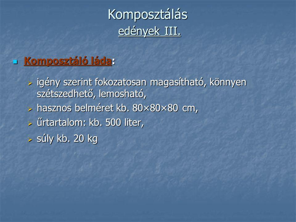 Komposztálás edények III.