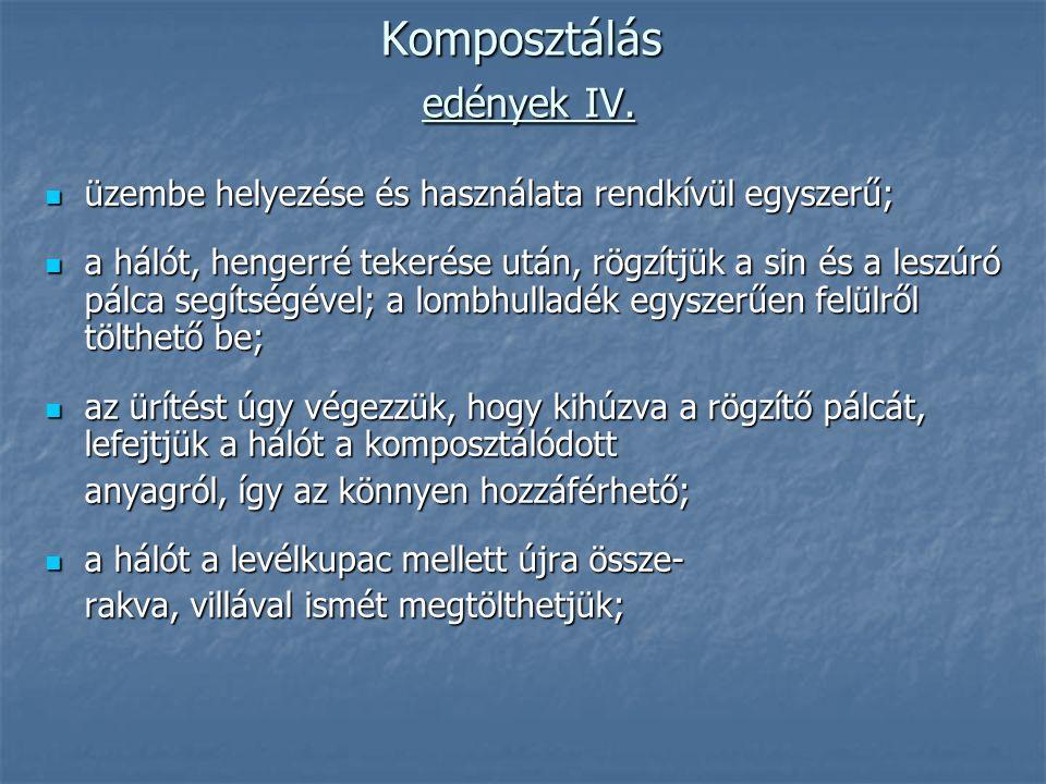 Komposztálás edények IV.