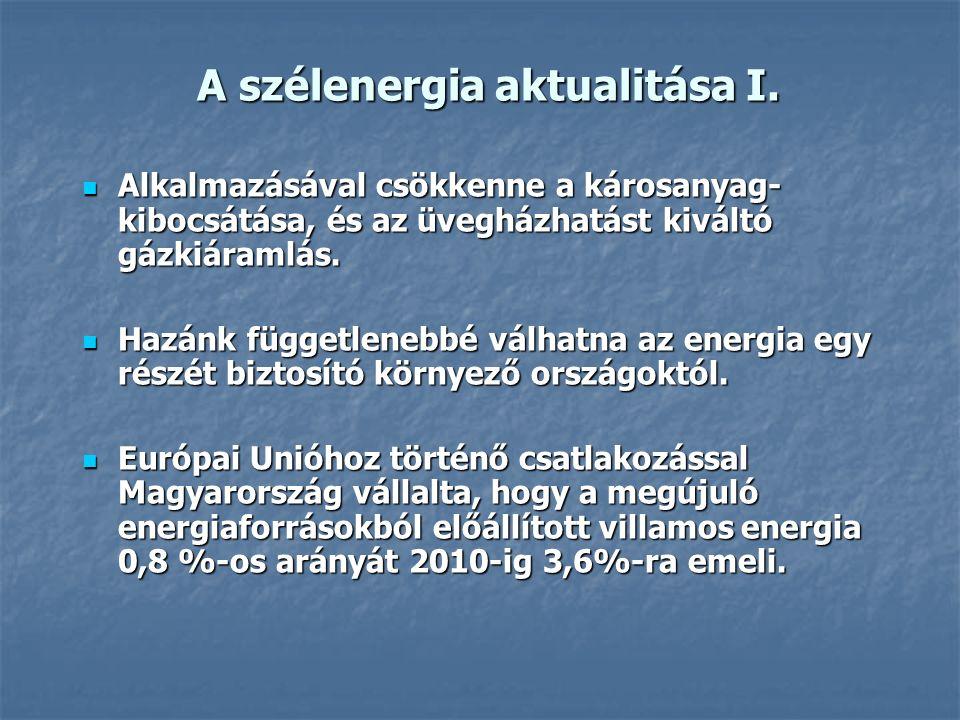 A szélenergia aktualitása I.