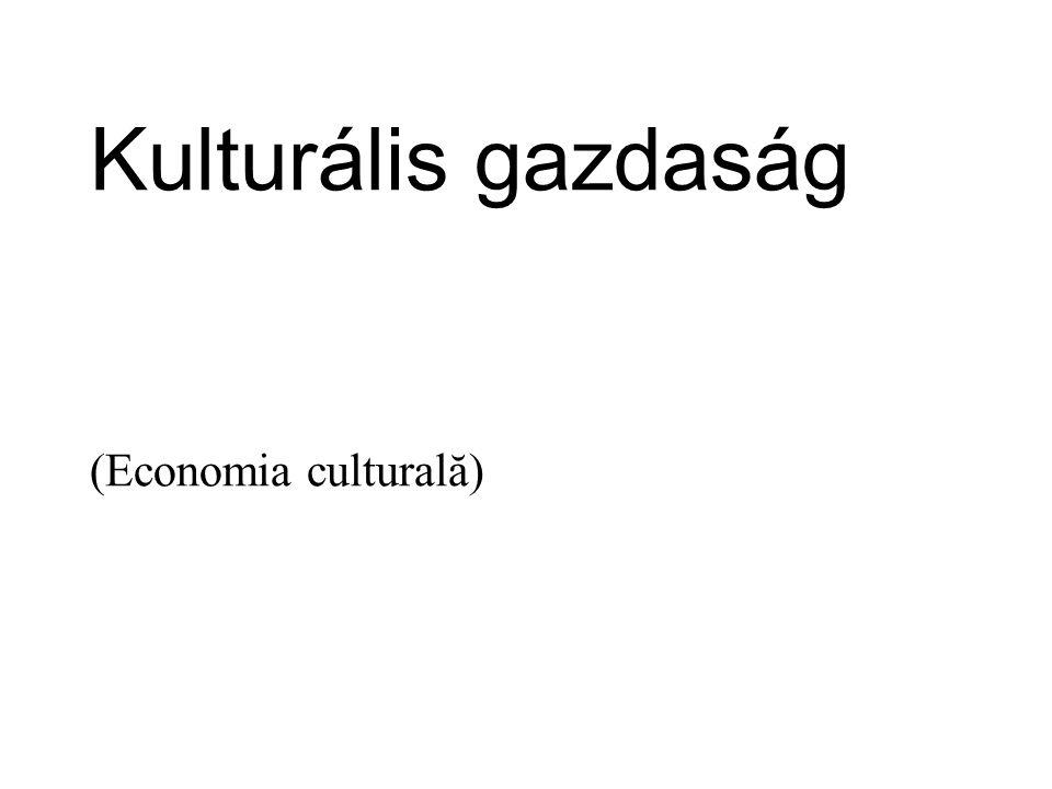A kulturális gazdaság a modern ökonómia egyik legdinamikusabban fejlődő jellegzetes eleme.