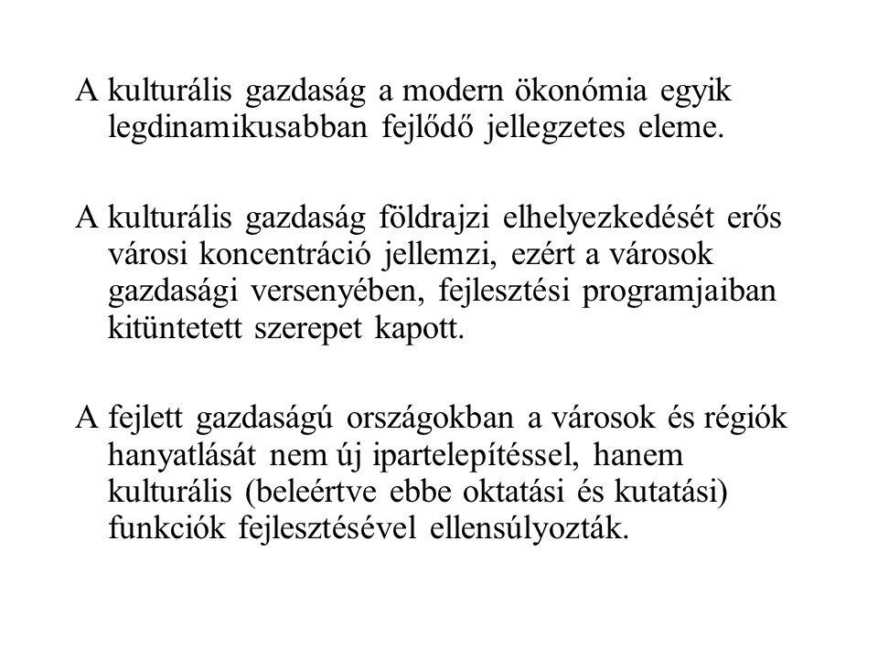 Kulturális gazdaság Kiindulópont: a kultúra meghatározásai A kultúra nem szabványos közgazdasági jelenség, magyarázata multidiszciplináris feladat.