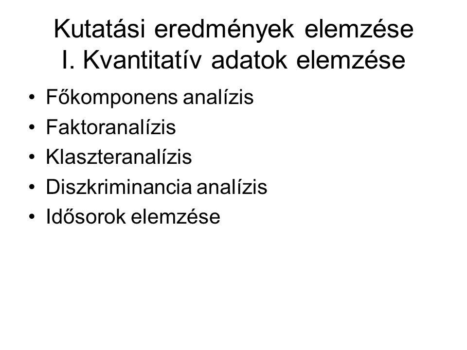 Kutatási eredmények elemzése I.