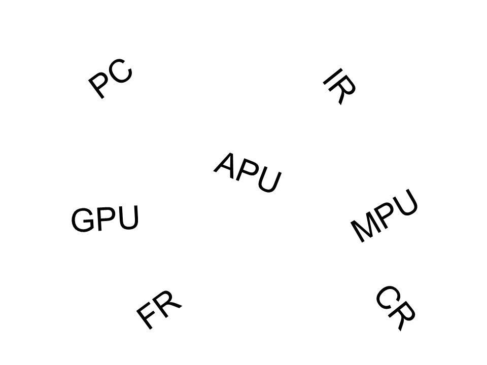 PC IR CR FR GPU APU MPU