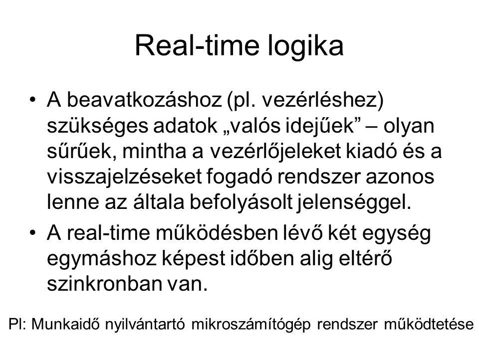 Real-time logika A beavatkozáshoz (pl.