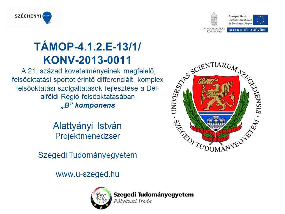 Projekt alapadatai, céljai Projektazonosító:TÁMOP-4.1.2.E-13/1/KONV-2013-0011 Megvalósítási időszak:2013.09.01.