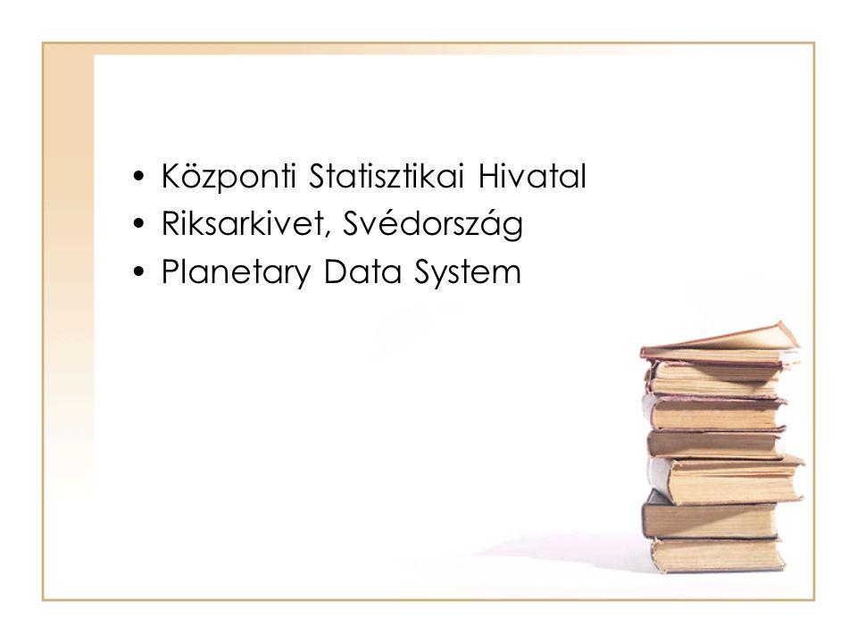 Központi Statisztikai Hivatal Riksarkivet, Svédország Planetary Data System