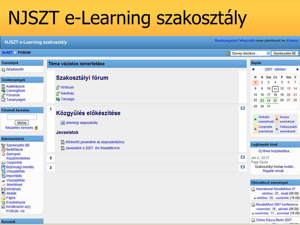 NJSZT e-Learning szakosztály