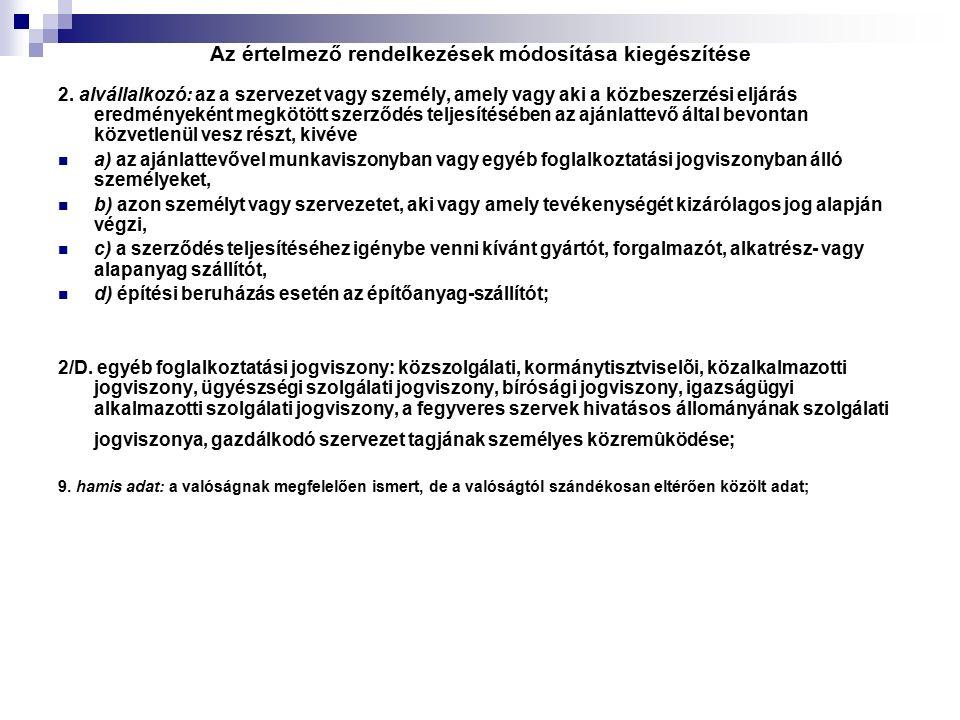 Az értelmező rendelkezések módosítása kiegészítése 2.