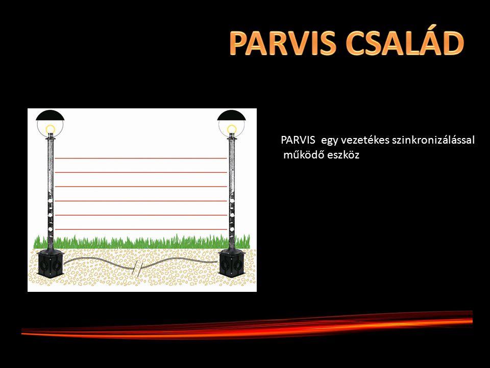 PARVIS egy vezetékes szinkronizálással működő eszköz