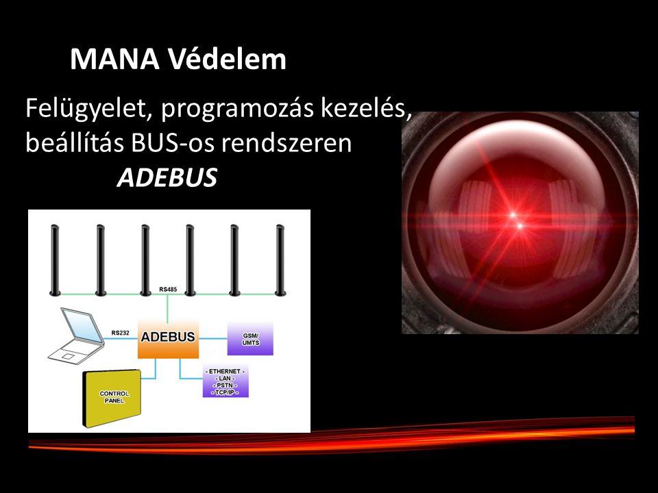 Felügyelet, programozás kezelés, beállítás BUS-os rendszeren ADEBUS MANA Védelem