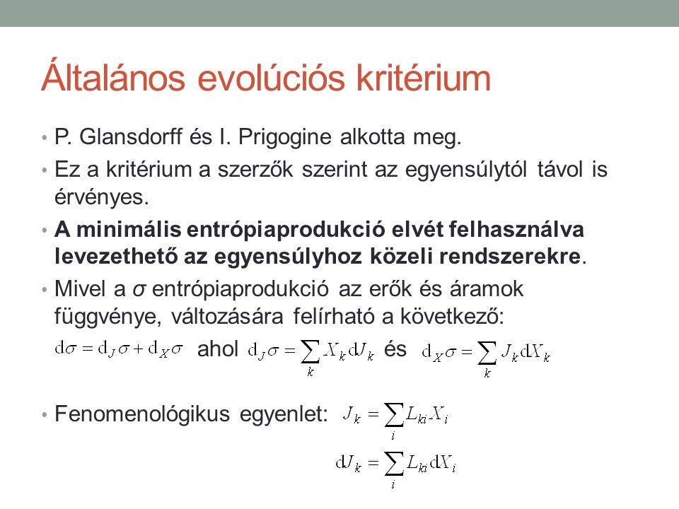 Általános evolúciós kritérium P. Glansdorff és I.