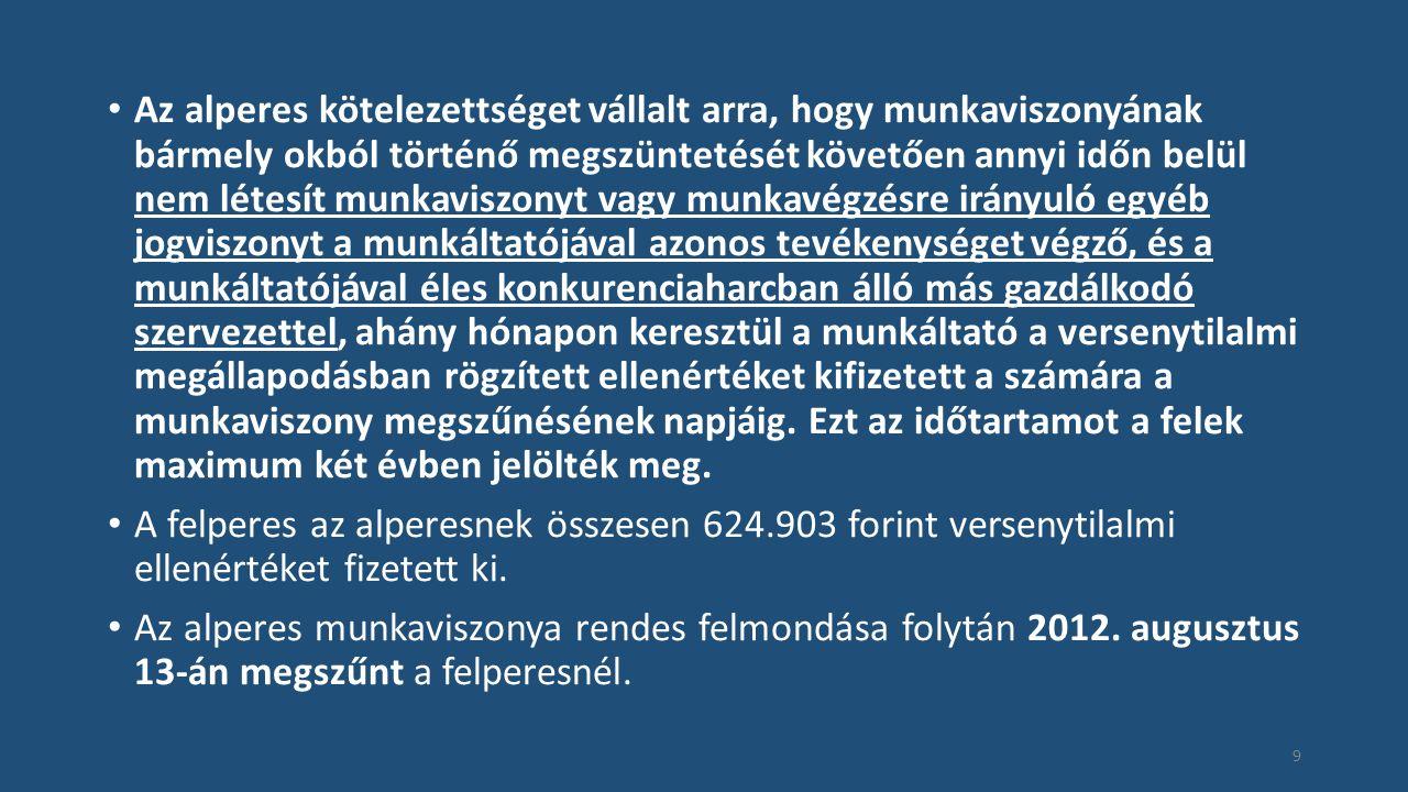 Eset: Jogi és számviteli asszisztens Mfv.II.10.117/2014/7.szám 30