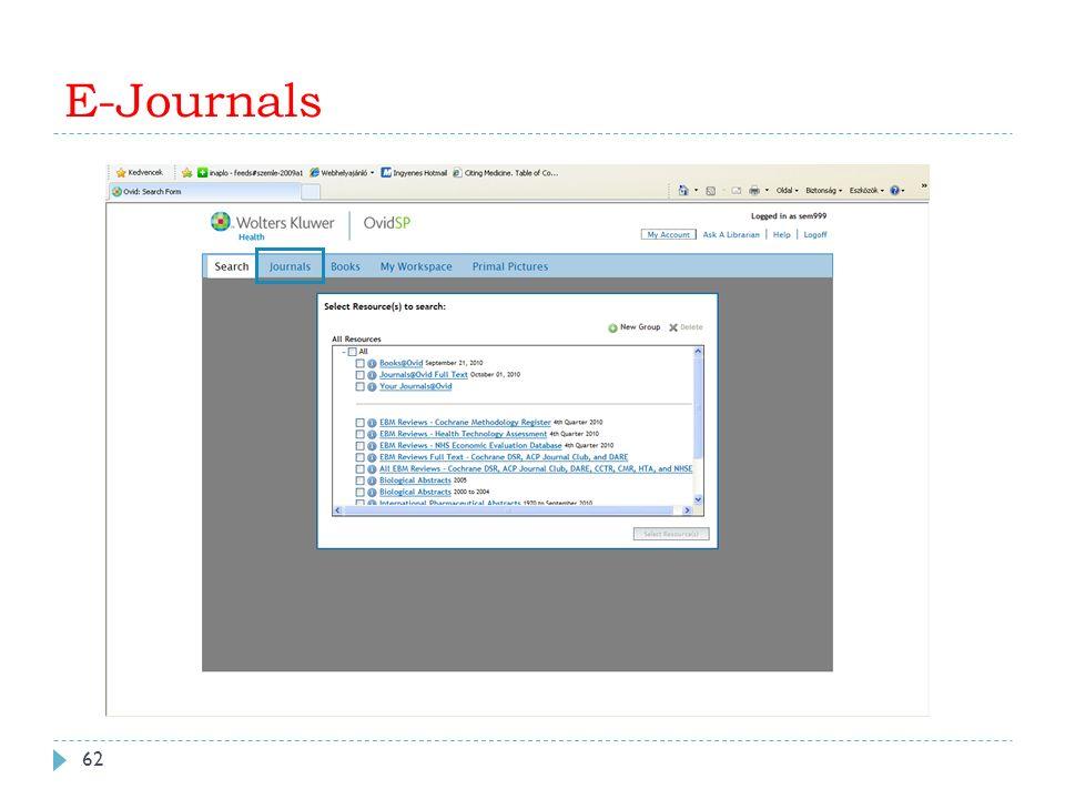 E-Journals 62