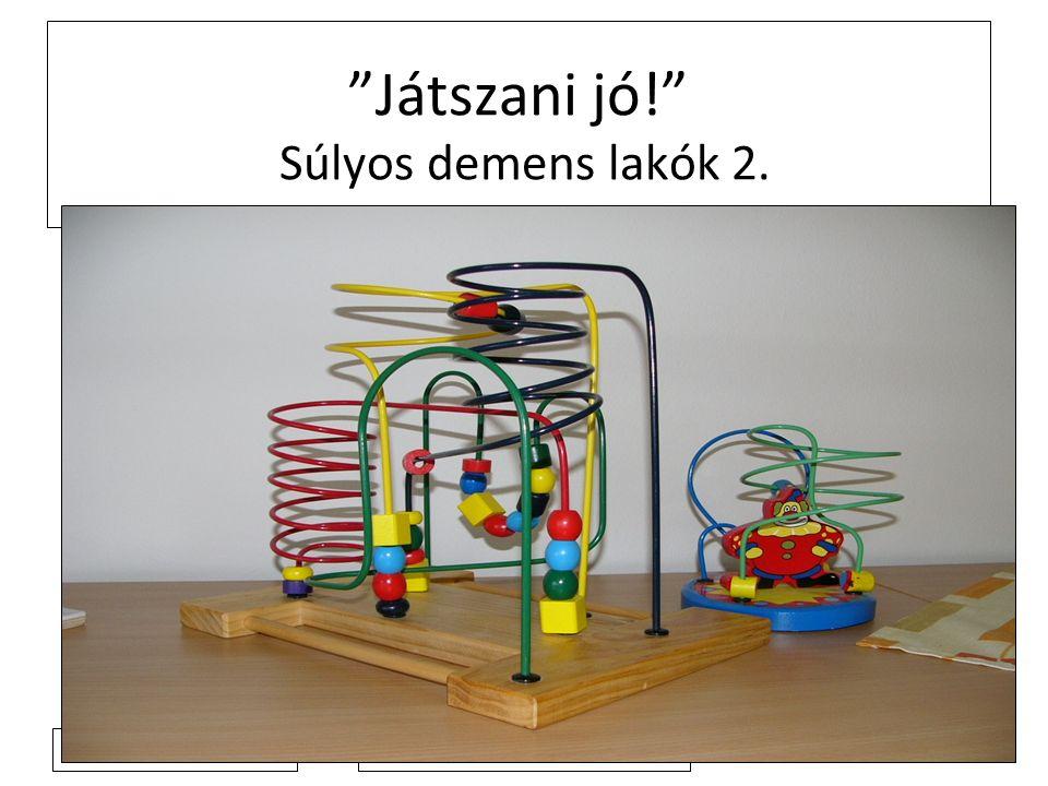 2011. 4. 4. Játszani jó! Súlyos demens lakók 2.