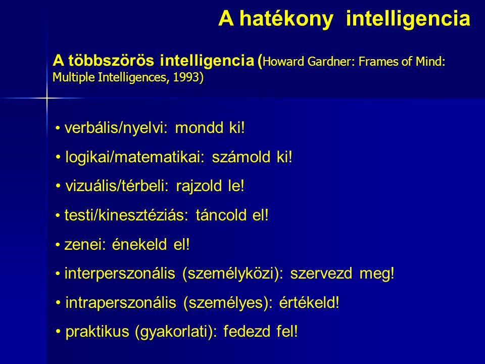 A hatékony intelligencia verbális/nyelvi: mondd ki.