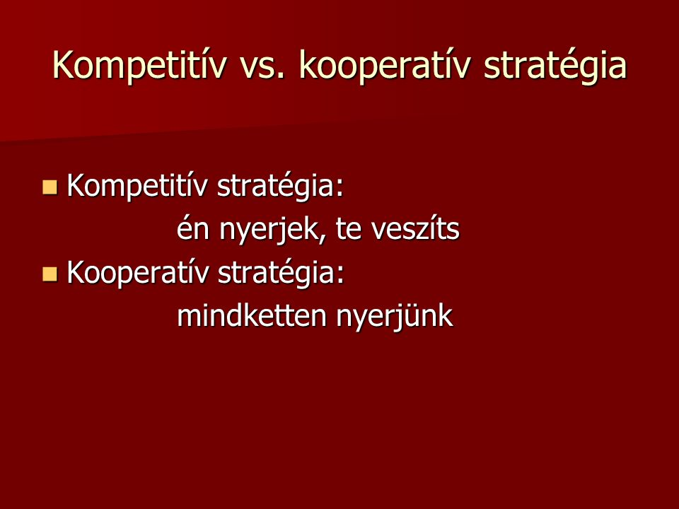 Kompetitív vs.