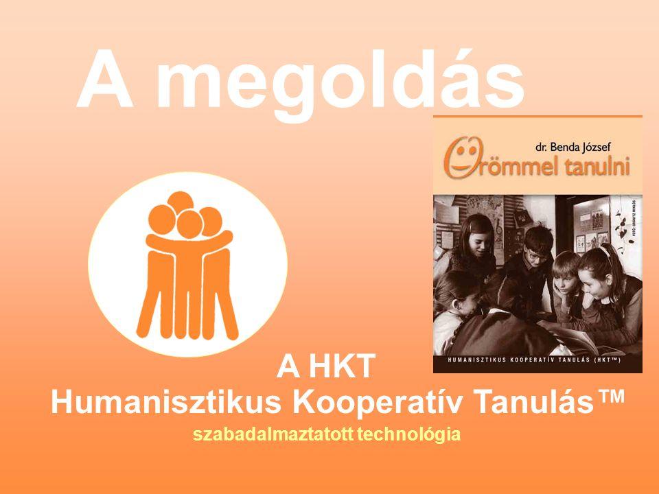 A megoldás A HKT Humanisztikus Kooperatív Tanulás™ szabadalmaztatott technológia