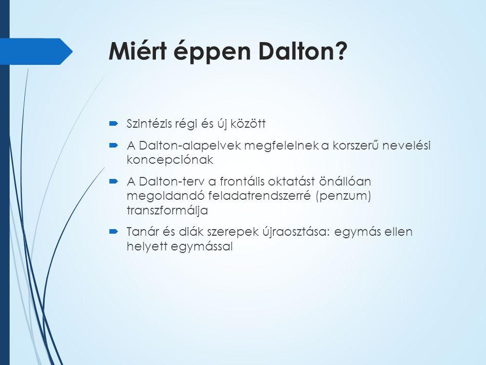 Miért éppen Dalton.