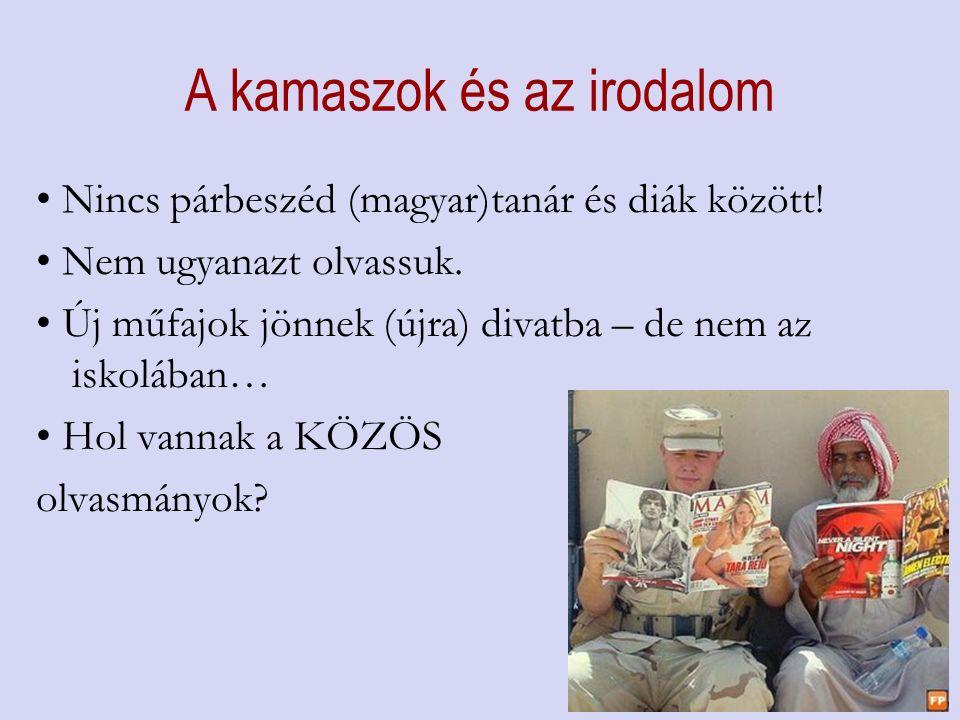 A kamaszok és az irodalom Nincs párbeszéd (magyar)tanár és diák között.