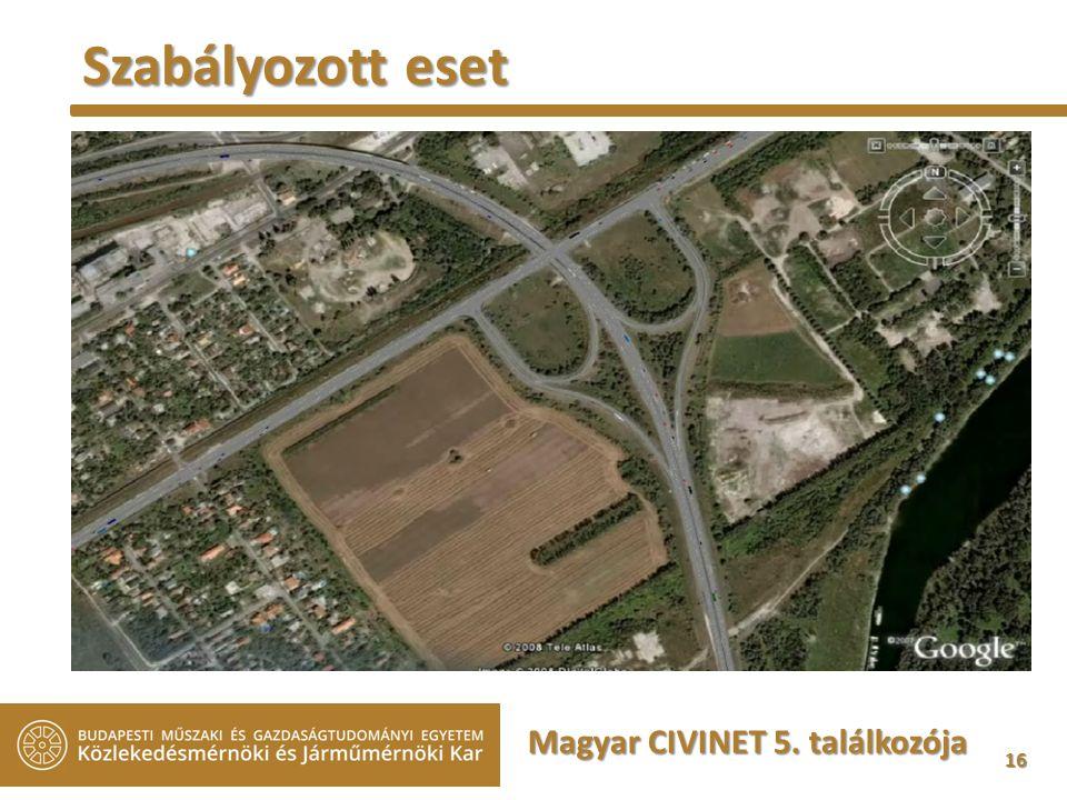16 Magyar CIVINET 5. találkozója Szabályozott eset