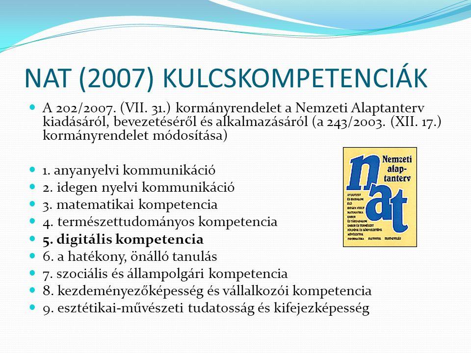NAT (2007) KULCSKOMPETENCIÁK A 202/2007. (VII.