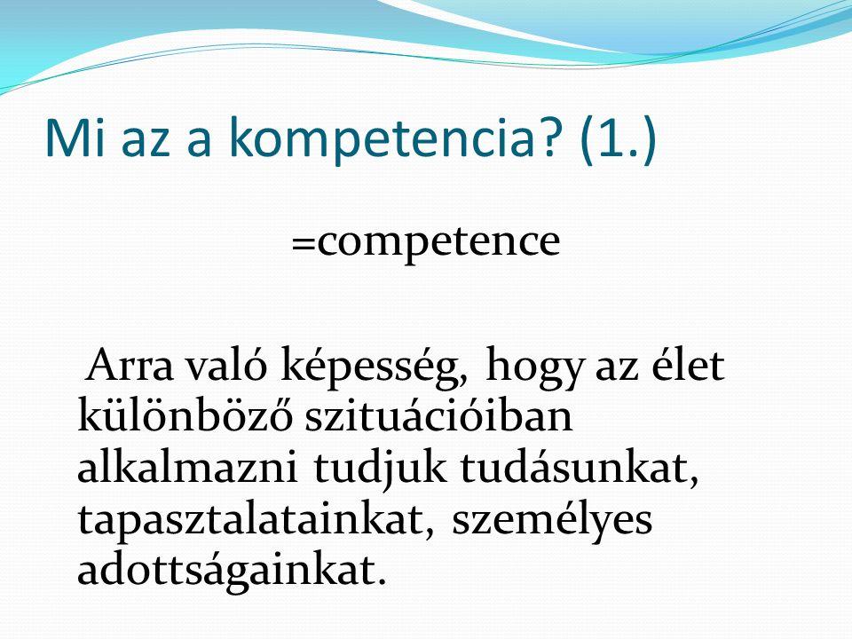 Mi az a kompetencia.