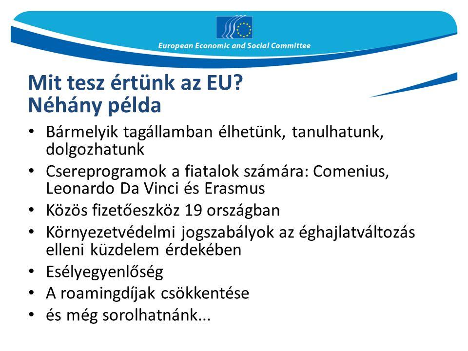 Mit tesz értünk az EU.