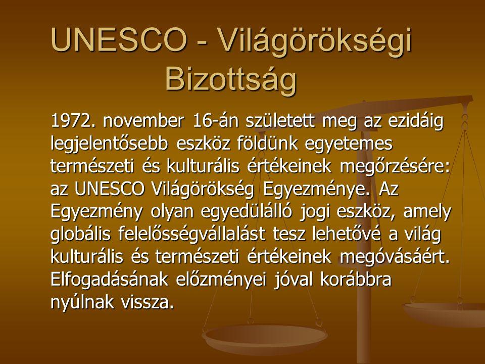 UNESCO - Világörökségi Bizottság 1972.